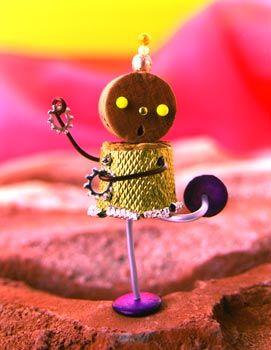 版画家・コルク人形作家 片岡まみこ|こんぺいとうの踊り7 / 12 「コルク人形展1998」原宿・ROCKET 1998年
