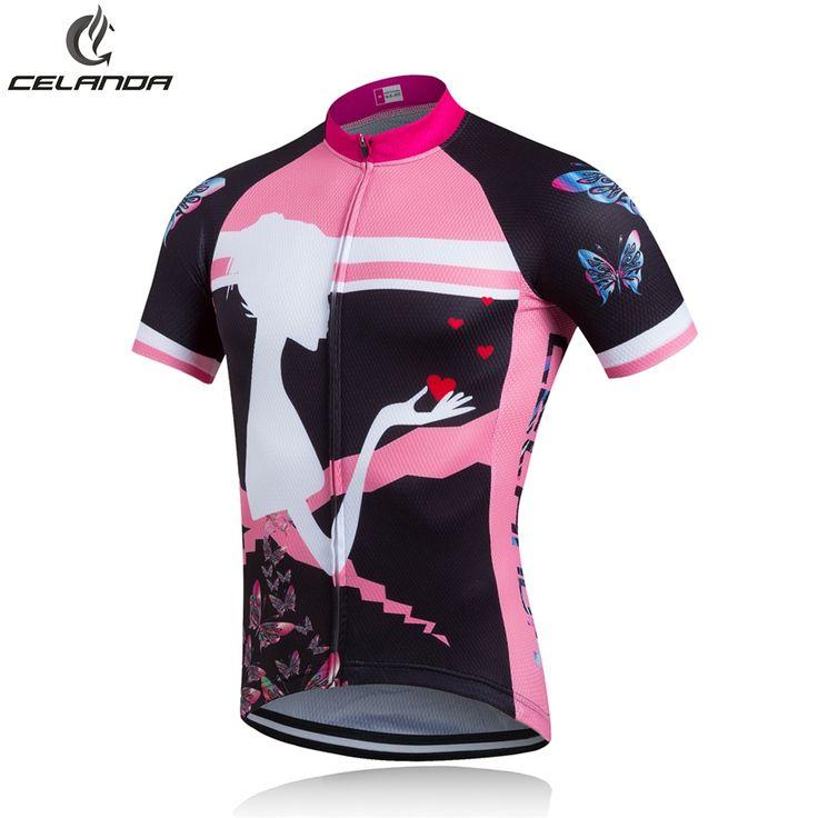 CELANDA 2016 Nuove Belle Donne Ragazze in Bicicletta Jersey Abbigliamento Ciclismo Maglia Ciclismo Sportwear Bike Abbigliamento Traspirante