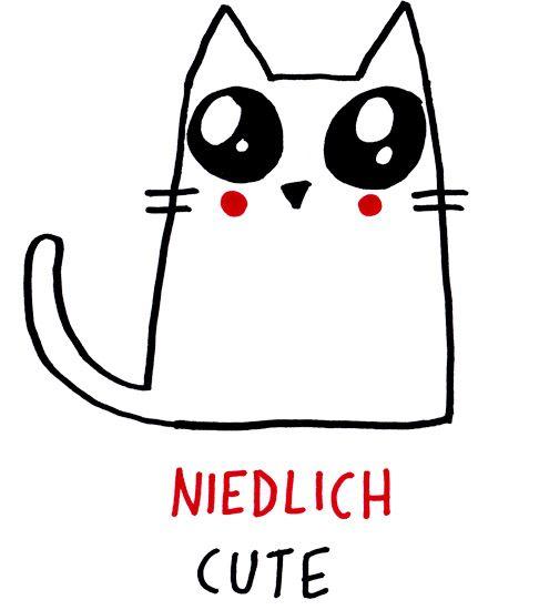 """Beispiel / Example""""Dieses Kätzchen ist aber niedlich!""""= """"This little cat is so cute!"""""""