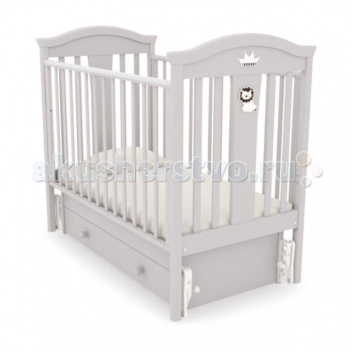Детская кроватка Гандылян Даниэль (универсальный маятник)  Дизайн придаёт этой детской кроватке роскошный внешний вид. Модель обеспечит младенцу крепкий сон.  Внутренние размеры (см): 120 х 60. Материал: БУК.  Особенности:  Продольный и поперечный маятниковый механизм с фиксатором; Уникальный (запатентованный) механизм опускаемой боковины в 2-х положениях с фиксатором; Два уровня ложе по высоте; Удобный, вместительный выдвижной ящик для белья; Силиконовые накладки; Отсутствие острых углов и…