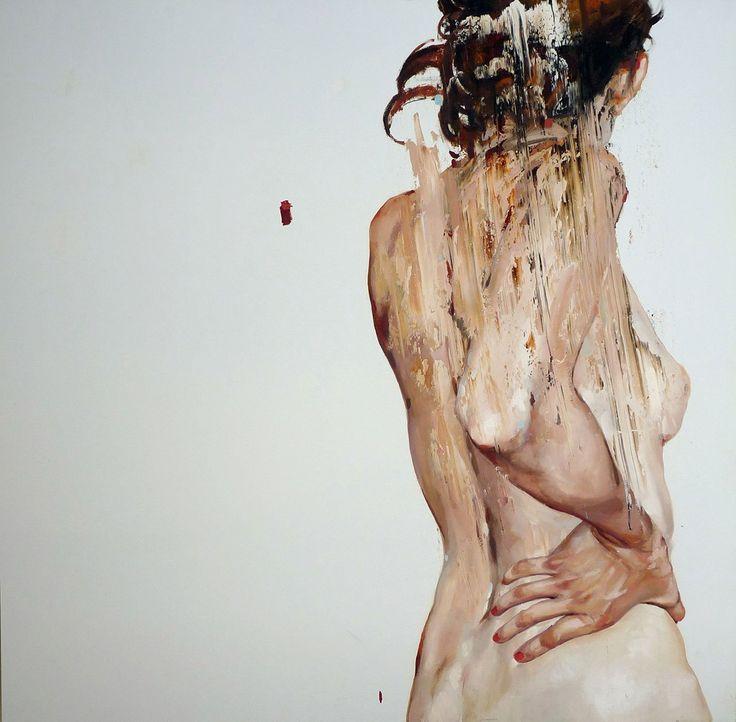 Cesar Biojo,Estuche 5, oil on canvas, 100 x 100 cm, 2013.