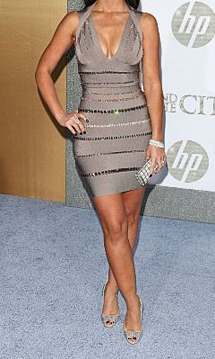 RED CARPET CRYSTAL, Less is more when it comes to showing off the feminine figure. We love the simplicity of this bandage dress inspired by the red carpet look of Jennifer Love Hewitt. redcarpetbodysecrets.com