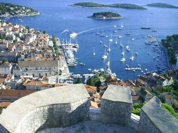 Fortress of FORTICA ŠPANJOLA, a magnificent viewpoint, perched high atop the hill above the town of Hvar