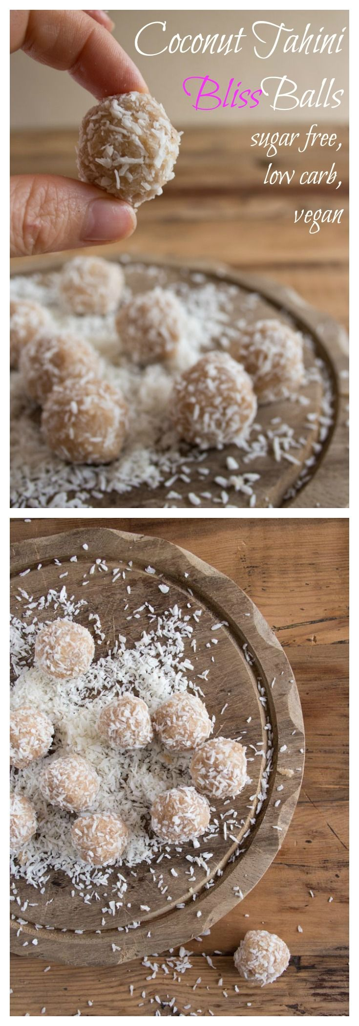 Soft, satisfying and subtly spiced: These sugar free Coconut Tahini Bliss Balls are bite-sized portions of...bliss.