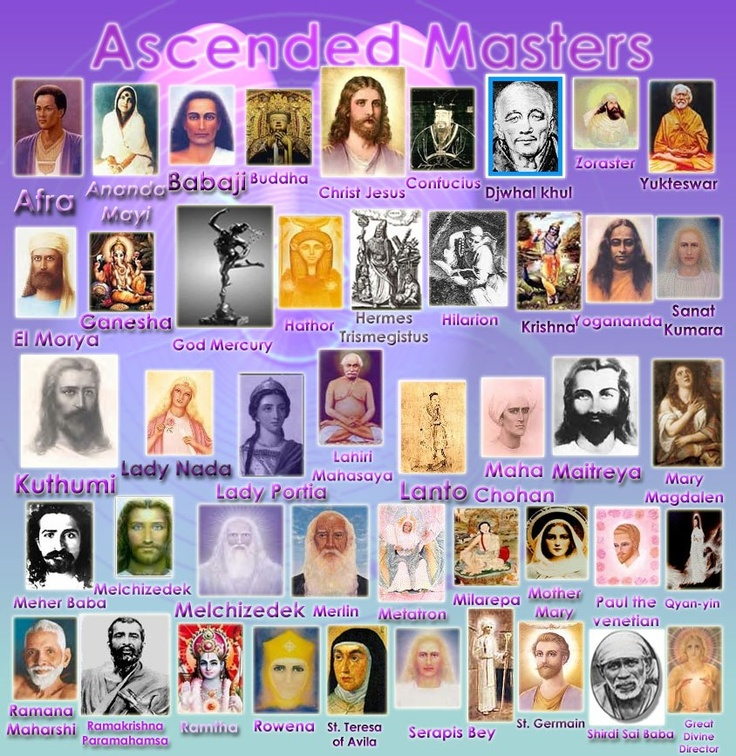 Ascended Masters -they came to teach us from all religions, races and both sexes, there is no one greater than the other, all are equal as we should see ourselves and each other ❤️