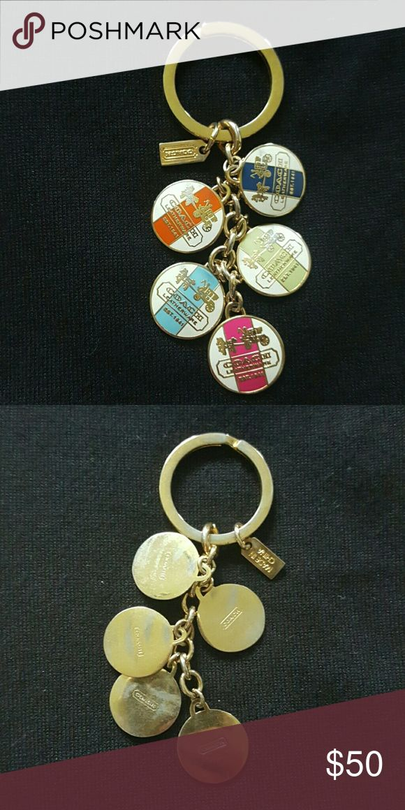 Coach legacy stripe key fob Coach legacy stripe key fob. In great condition. Coach Accessories Key & Card Holders