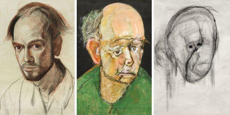 Un Artista Con Alzheimer Dibujó Auto Retratos Por 5 Años Hasta Que Apenas Podía Recordar Su Propia Cara