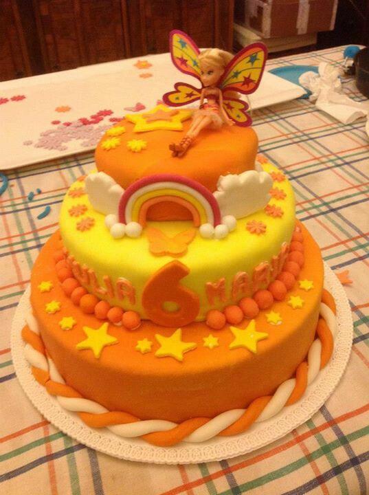 Torta winx arancione