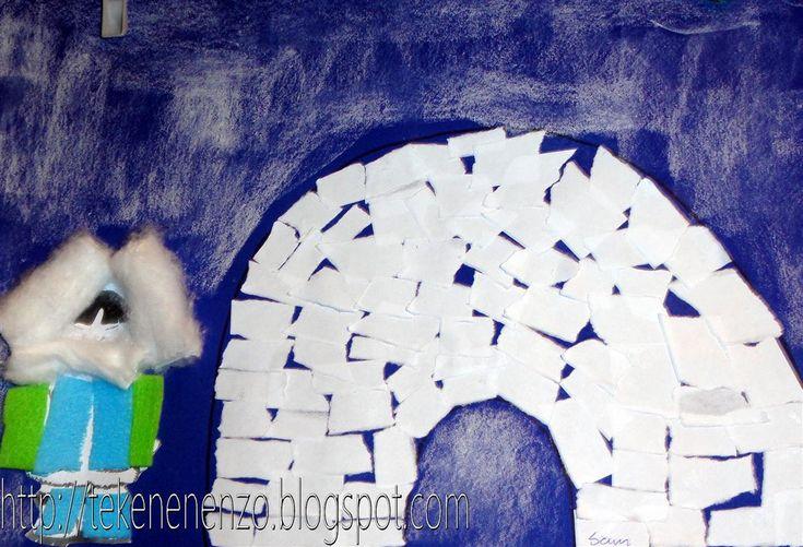 Tekenen en zo: Eskimo en iglo
