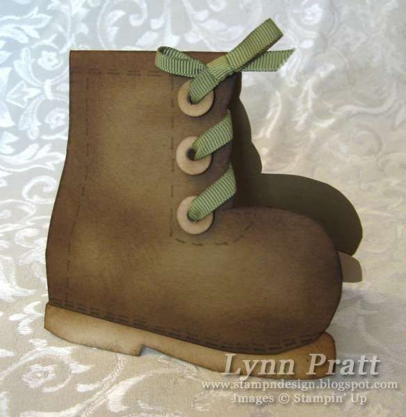 Great little boy card, You can get the FREE template and tutorial     http://stampndesign.blogspot.com/2010/07/convention-swap-4-mother-goose-shoe.html: Boot Card, Tutorial, Goose Shoe, Card Ideas, Greeting Card, Cards