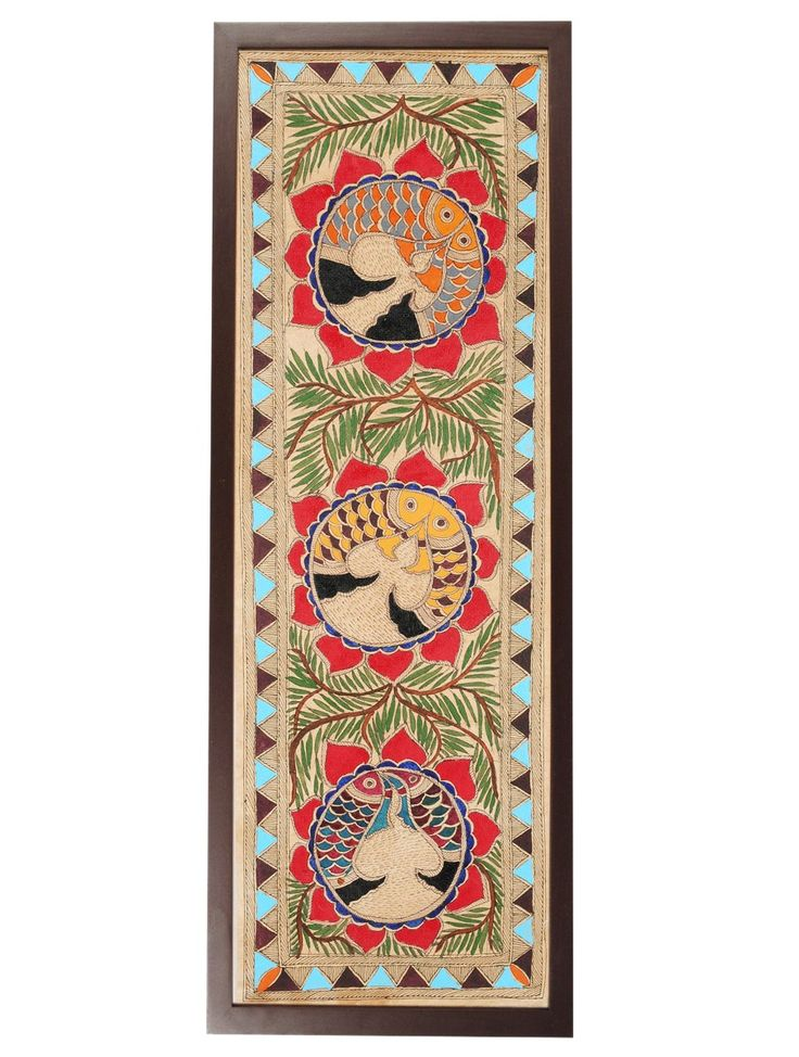 Buy Multicolor Madhubani Wall Art 23.1in X 8.7in Paper Wood Decorative Folk Holiday Homes Decor Accents and Textiles for Beautiful Online at Jaypore.com