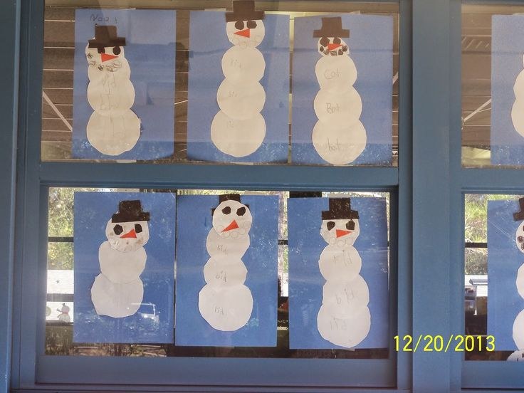 Snowman Word Families!