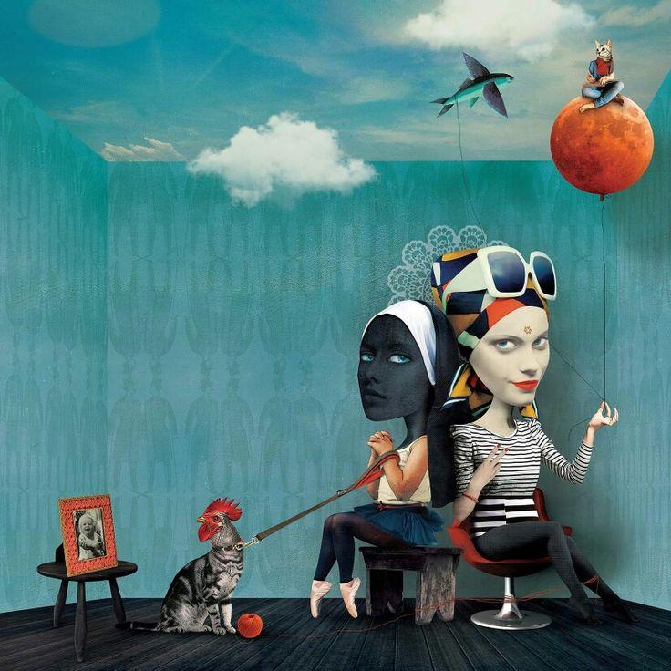Caitlin Truman-baker. ' twoInOne' digital collage