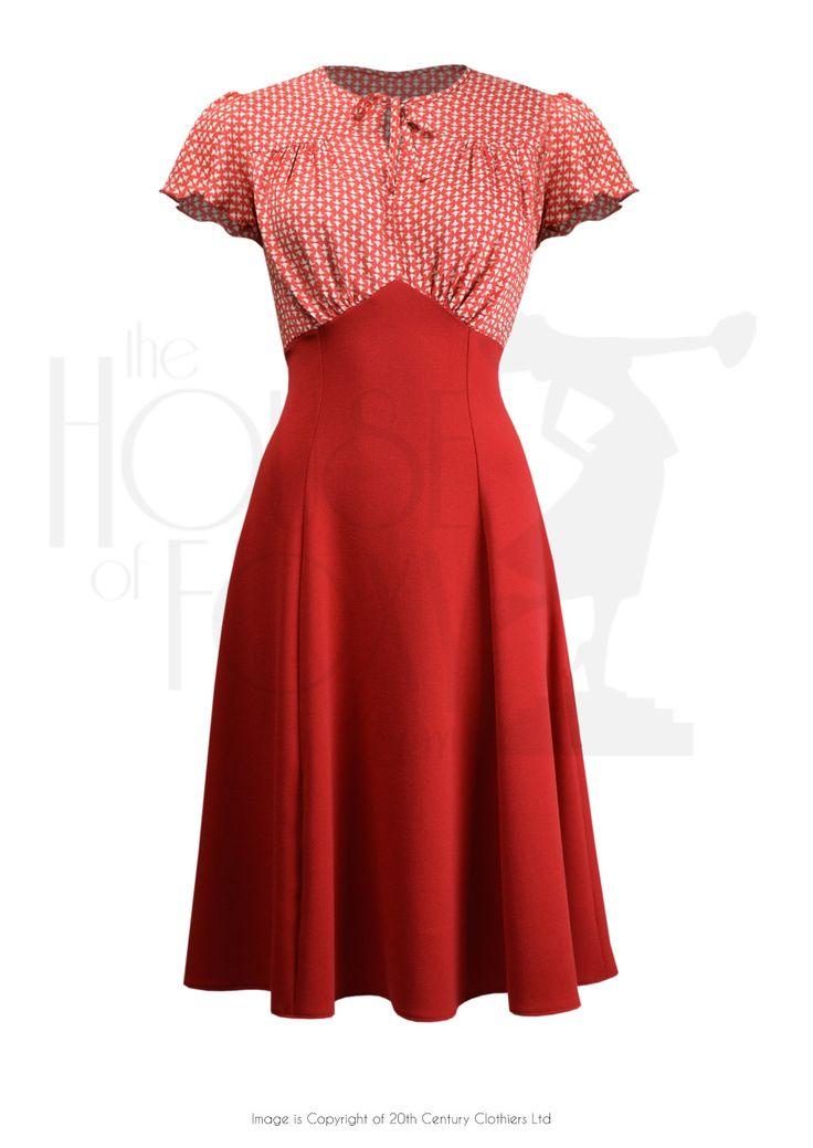 40s Grable Tea Dress - Enigma