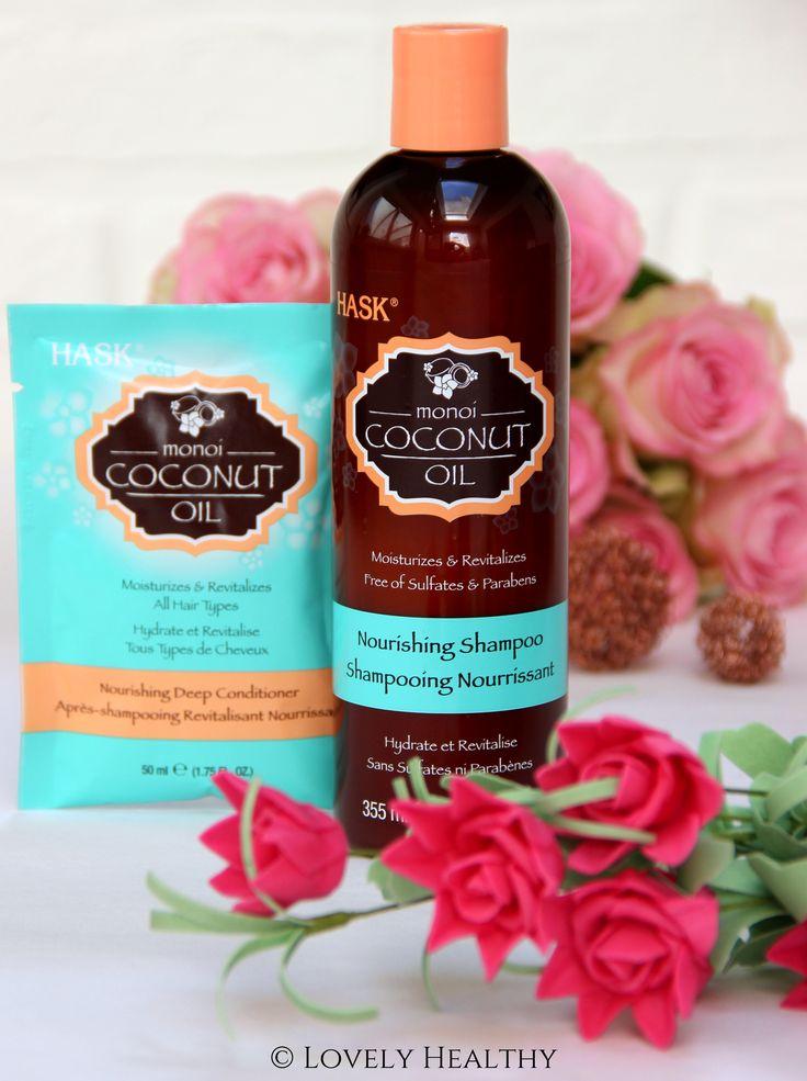 """Geef je lokken een tropische vakantie met dezeHASK Monoï Coconut Oil Shampoo. Ik heb deze toevallig """"ontdekt"""" in een DI winkel en O.M.G!! Deze shampoo kan tippen aan aan mijn Kérastase shampoos en dat aan de hélft van de prijs! Te goed om niet te vermelden hier op Lovely Healthy. En zonder twijfel één van de beste """"ontdekkingen"""" op gebied van haarverzorging sinds maanden!"""