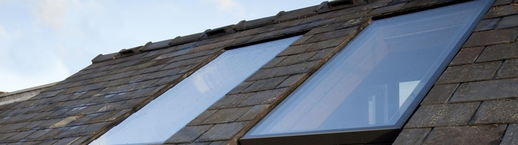 Integrated roof lights - will eventually form part of the kitchen roof