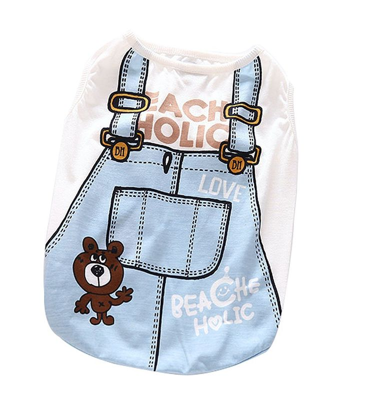 Moolecole Cozy Pet Dog Puppy T Shirt Apparel Vest Clothing Cotton Costume Cute Small Dogs Clothes * Read more  at the image link. (This is an affiliate link and I receive a commission for the sales)