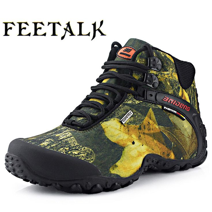 Men Hiking Shoes Boots Camping Climbing Shoes Man Sneakers Breathable Mountain Walking Boots Waterproof Shoes 8069 big size 46 #Affiliate