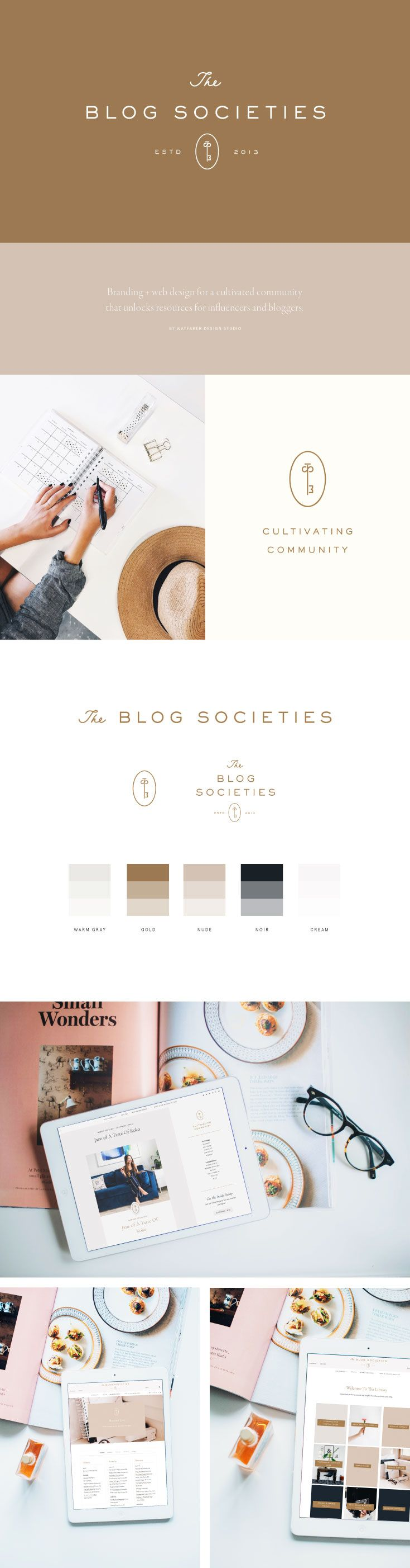 Brand + web design for The Blog Societies by Wayfarer Design Studio// design, branding, brand, brand identity, logo, logos, graphic design, identity, web, website, website design, blogger, blog design, lettering, hand lettering, blogging