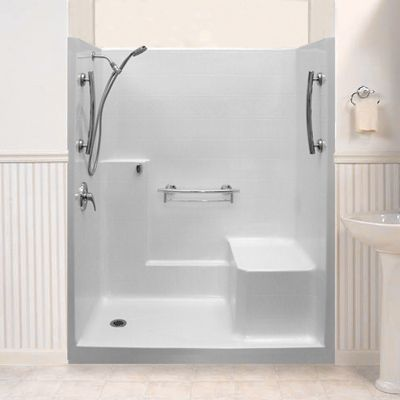 One Piece New Construction Shower Stall Beauty Shot