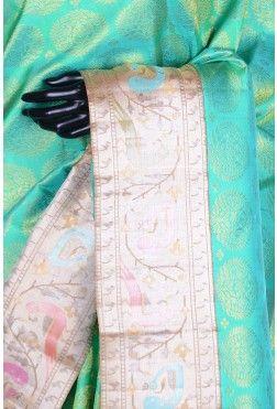 Pure Kanchipuram Silk-Aqua Green-WF202859
