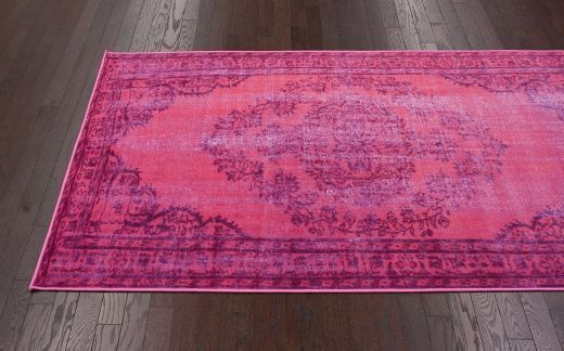Zoxoro.com.au   nuLOOM DIRE1C 100-Percent Polyamide Machine Made Chroma Overdyed Style Area Rug, 4-Feet by 6-Feet, Pink
