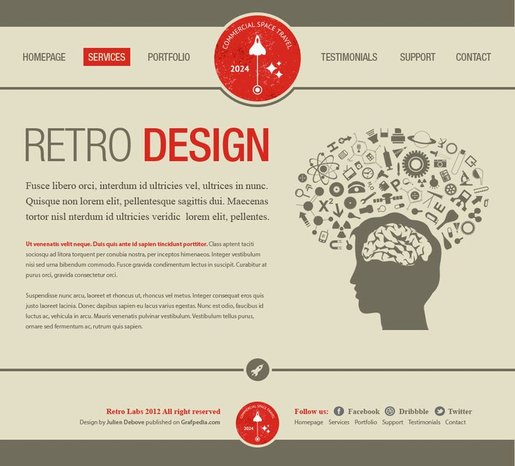 design a vintage portfolio layout using photoshop - screen 25, Powerpoint templates