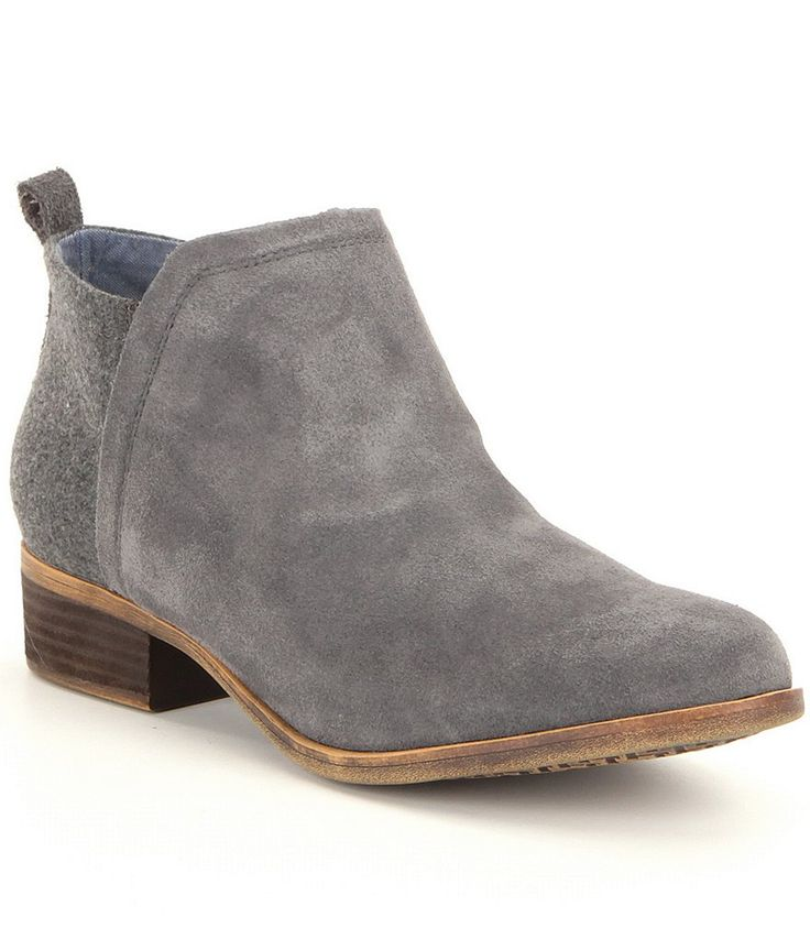 I would like some sort of bootie shoe like this - nothing with a large heel - the minimal the better! Castlerock Grey:TOMS Deia Booties