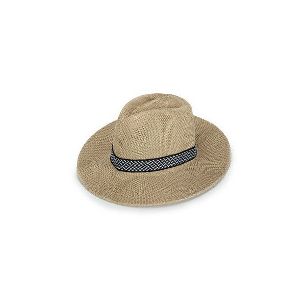Unisex Polyester Straw Floppy Wide Brim Sun Hat Fedora Beach Panama... (8.650 COP) ❤ liked on Polyvore featuring men's fashion, men's accessories, men's hats, mens straw hats, mens straw beach hats, mens floppy hat, mens straw sun hats and mens straw fedora hats