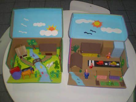 maquete escolar campo e cidade - Pesquisa Google