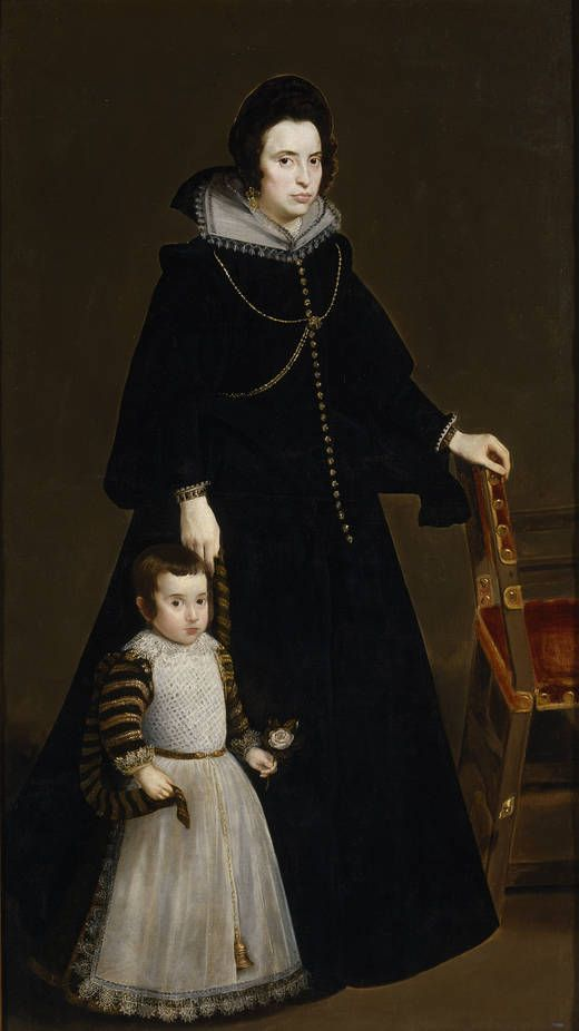 Diego Rodríguez de Silva y Velázquez.  Antonia Ipeñarrieta and Galdos and his son Don Luis, 1632 🎨🎨🎨