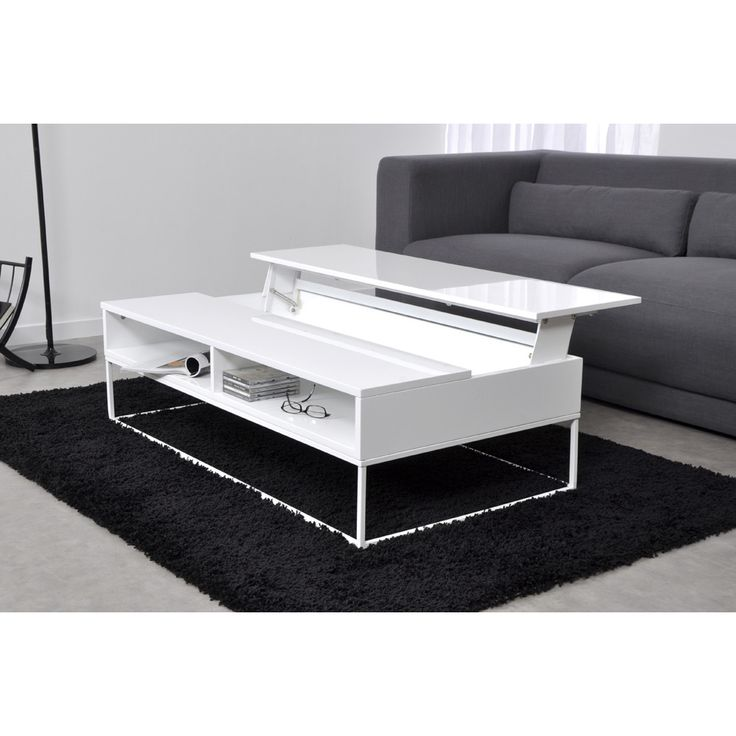 Table Basse Laqu 1 Plateau Relevable L121xp65 84xh35 45cm Laura Axe Design Port Offert Table