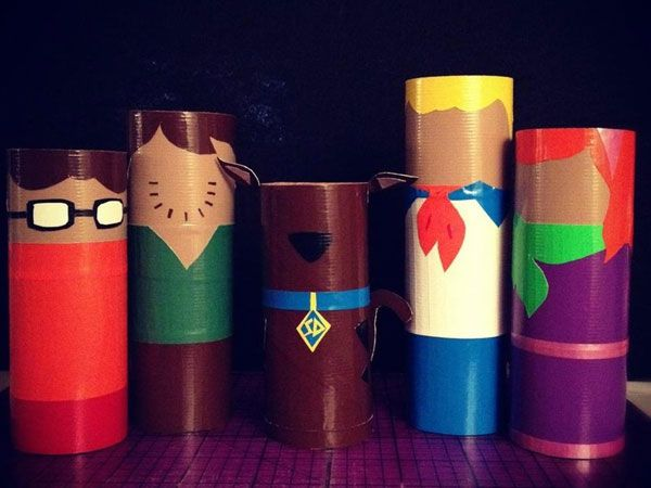Scooby Doo crafts | scooby doo Try Some Art With These 33 Toilet Paper Roll…