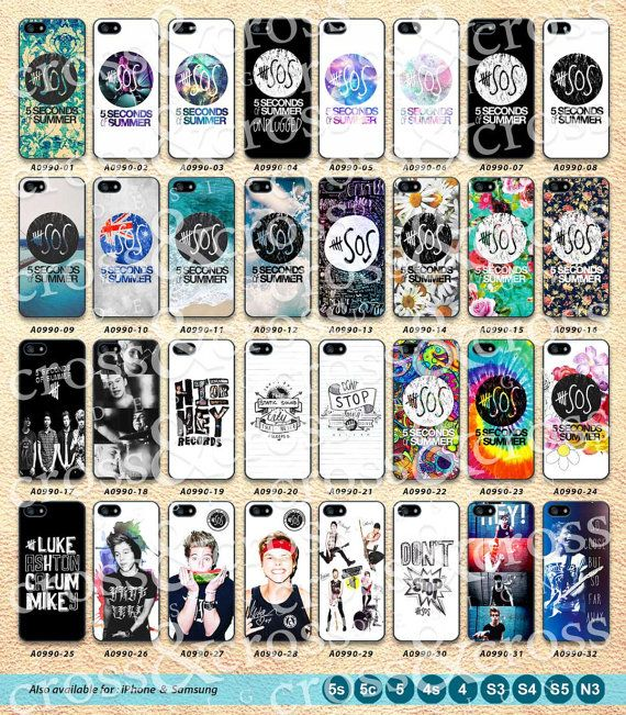 5 Seconds Of Summer iPhone 5 Case 5 SOS iPhone 5c by CrossAndCross