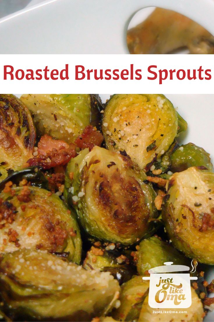 Oma's easy Roasted Brussels Sprouts  -- so good!  Even non-Brussels-sprouts-lovers will enjoy this. Really!  Recipe: http://www.quick-german-recipes.com/brussels-sprouts-recipe.html