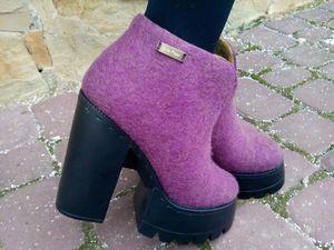 Валяем весенние ботильоны - Eco Shoes by Julia Pizar - Ярмарка Мастеров