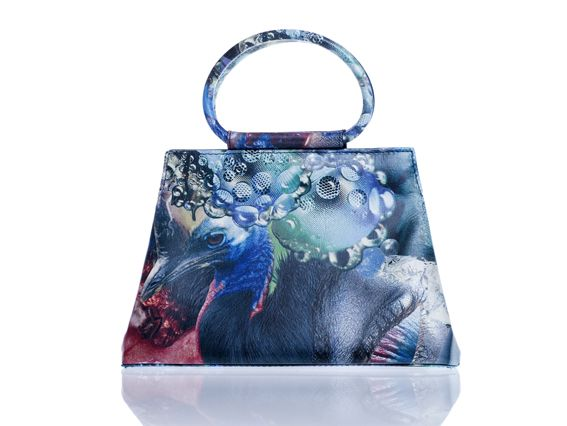 handbag - printed leather - www.awardt.be