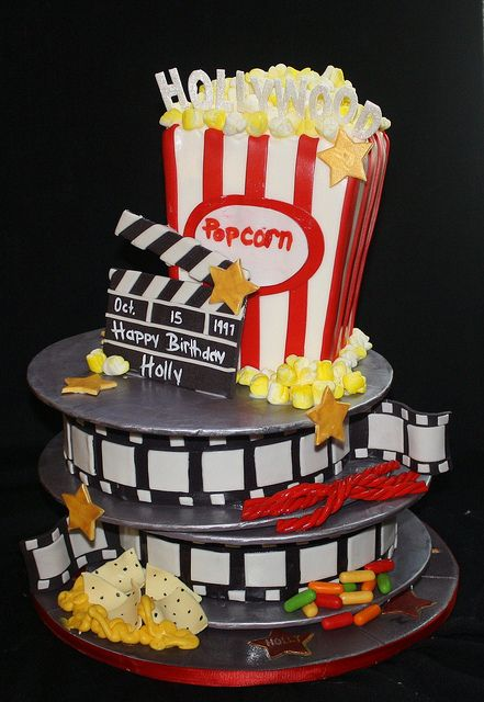 """Art de la table : Gâteau pièce montée """"Cinéma"""""""