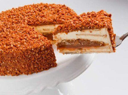 Torta Crocante de Doce de Leite - Veja como fazer em: http://cybercook.com.br/receita-de-torta-crocante-de-doce-de-leite-r-7-109002.html?pinterest-rec