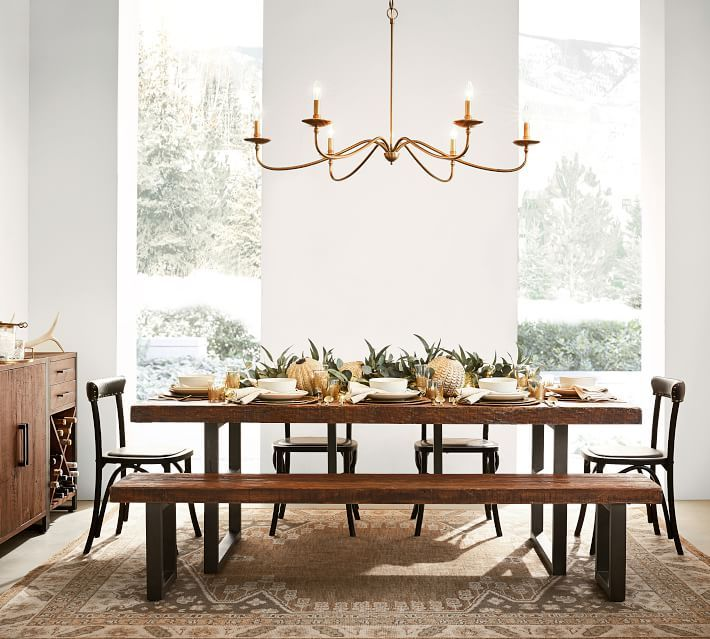 Reclaimed Wood And Metal Dining Table Reclaimed Wood Dining