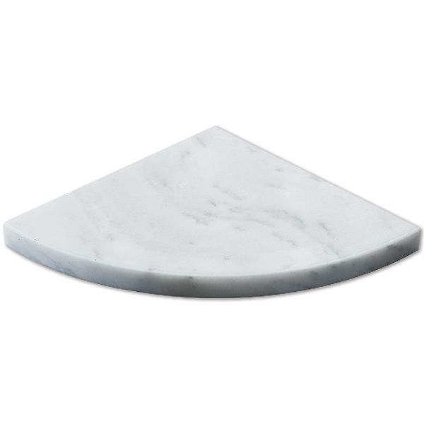 "Discount Glass Tile Store - Shower Fixtures Stone Corner Shelf - White Carrara 9""in $16.95  Per Piece, $16.95 (http://www.discountglasstilestore.com/shower-fixtures-stone-corner-shelf-white-carrara-9in-16-95-per-piece/)"