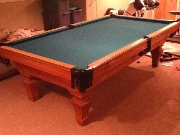 Murrey pro 8' used slate pool table  A1