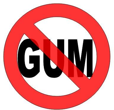 Image result for no chewing gum