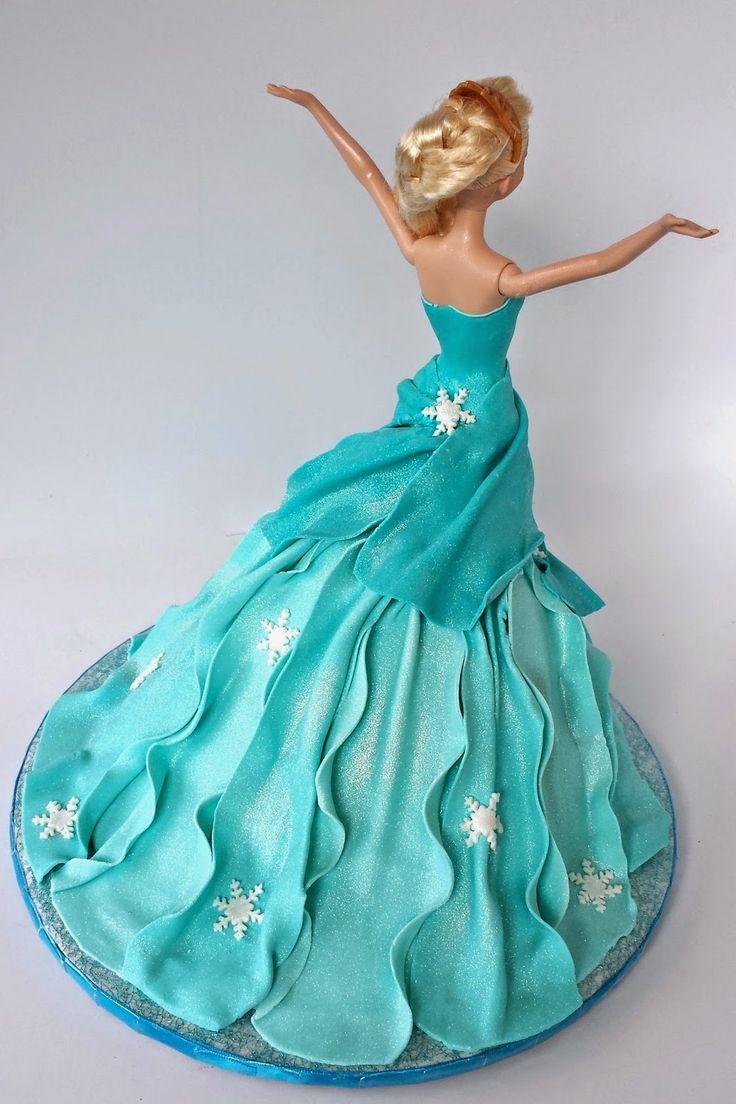 Cake Blog: Elsa Doll Cake Tutorial - I like the use of fondant for making the bodice