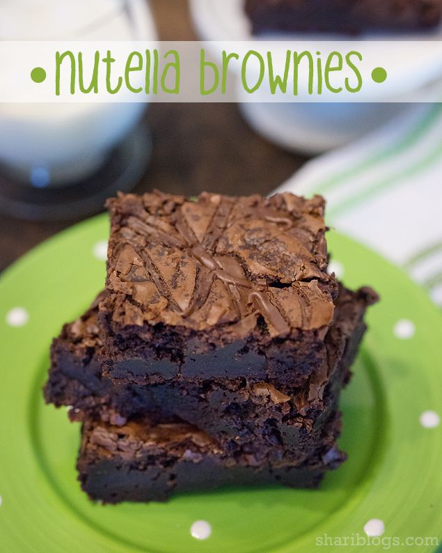 Easy Nutella Brownies | www.shariblogs.com