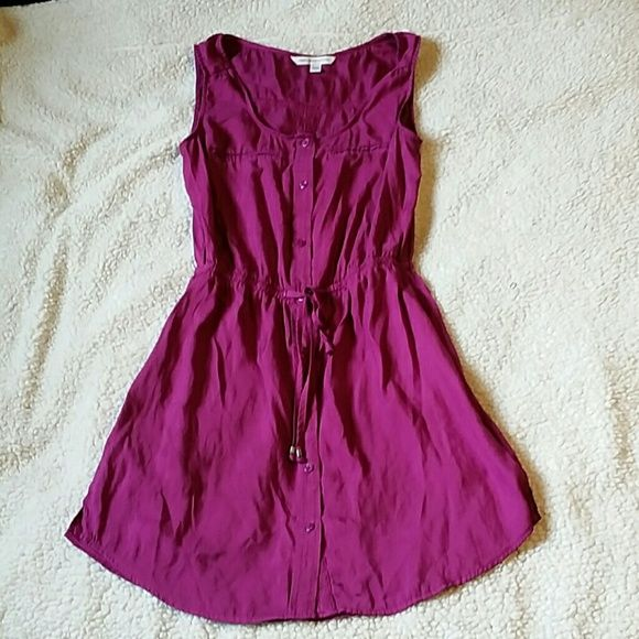 American Eagle Plum color Dress American Eagle plum colored roomper. Size xsmall. This is super cute!! 2 small dark spots the size of a peice of fuzz on bottom. Not noticeable though American Eagle Outfitters Dresses
