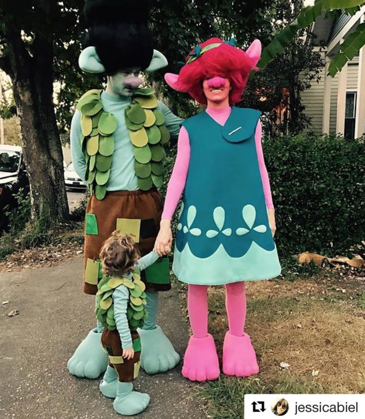 The Best Celebrity Halloween Costumes - Justin Timberlake, Jessica Biel, and Silas from InStyle.com