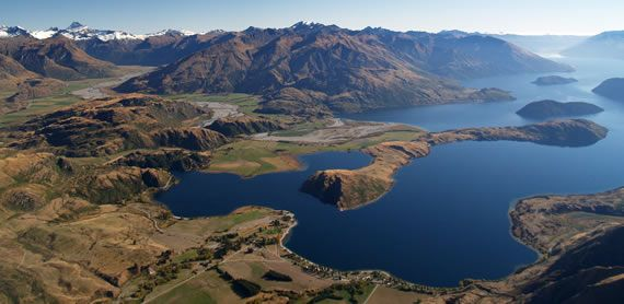 Aerial view of Glendhu Bay, Lake Wanaka. We are so lucky to have the head office of Infinity Investment Group here. We get to live and work, and play here!