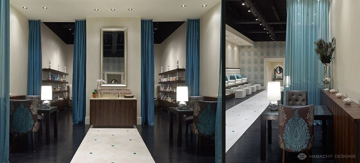 Footique nail salon designed by habachy designs award for Interior design society
