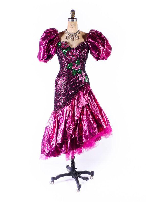 Vintage 80s Prom Dress // 1980s Dress // 1980s by SwellFarewell